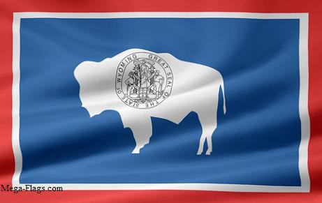Wyoming state flag, WY flag WyomingFlag